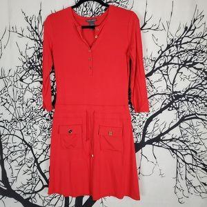 4/$25 CHELSEA & THEODORE Mini Dress Red Orange S 4